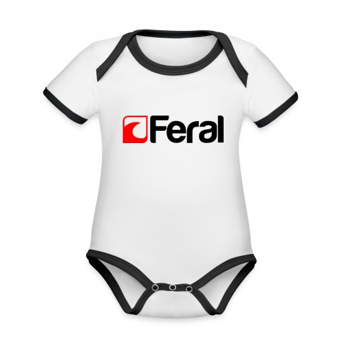 Feral Red Black - Organic Baby Contrasting Bodysuit