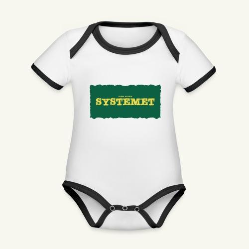 Glöm aldrig Systemet - Ekologisk kontrastfärgad kortärmad babybody