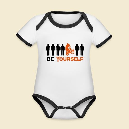 Radball | Be Yourself - Baby Bio-Kurzarm-Kontrastbody