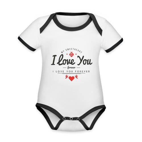 my sweetheart1 - Ekologiczne body niemowlęce z krótkim rękawem i kontrastowymi lamówkami