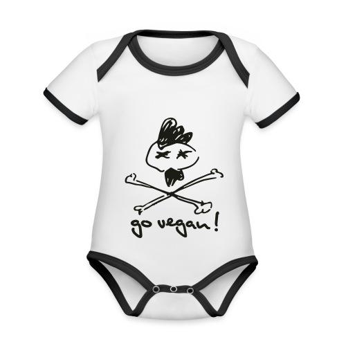 govegan01_225x225 - Baby Bio-Kurzarm-Kontrastbody