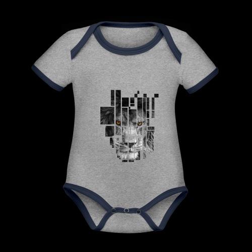 Pixel Lion Tattoo Inspire - Organic Baby Contrasting Bodysuit