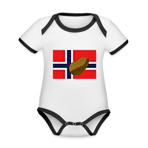 NorPot - Økologisk kortermet kontrast-babybody