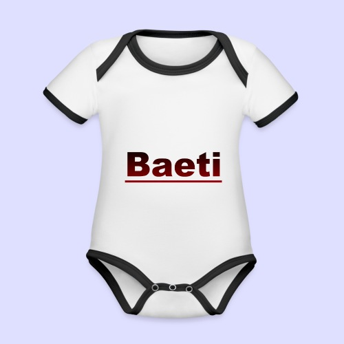 Baeti - Baby contrasterend bio-rompertje met korte mouwen