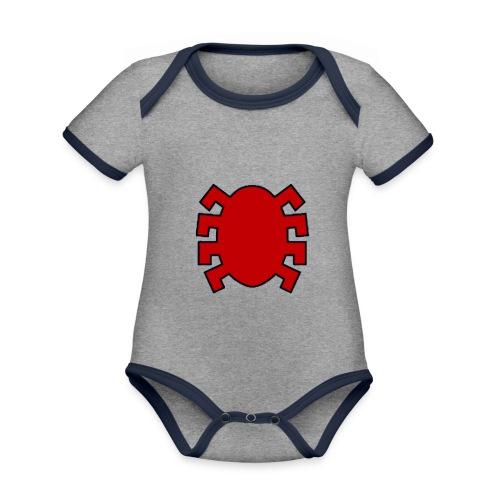 spiderman back - Organic Baby Contrasting Bodysuit