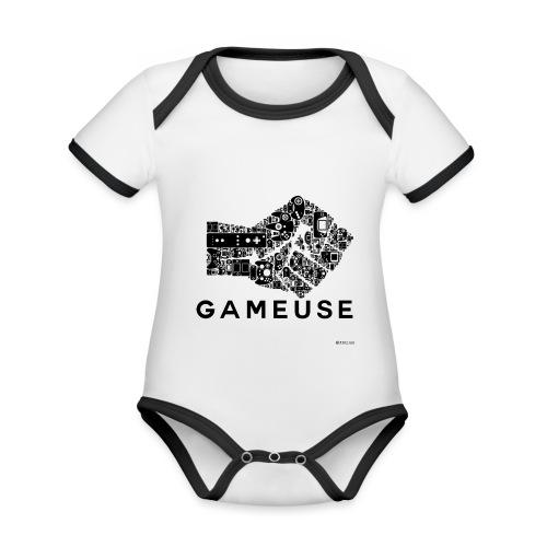 POING GAMEUSE - Body Bébé bio contrasté manches courtes