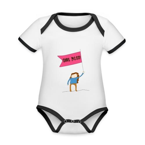Gurl boss - Body contraste para bebé de tejido orgánico
