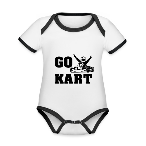 Go kart - Body Bébé bio contrasté manches courtes