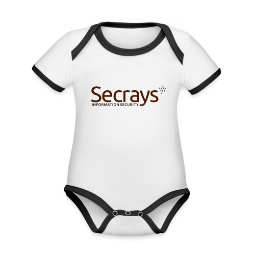 Secrays vektori logo - Vauvan kontrastivärinen, lyhythihainen luomu-body