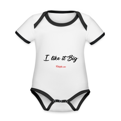 I like it Big by Fatastic.me - Organic Baby Contrasting Bodysuit