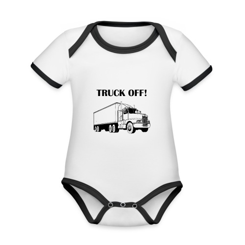 Truck off! - Organic Baby Contrasting Bodysuit