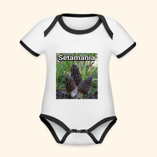 Colmenillas setamania - Body contraste para bebé de tejido orgánico