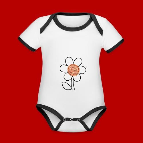Pizzaflower Edition - Baby Bio-Kurzarm-Kontrastbody