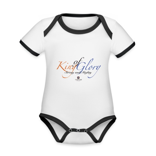 King of Glory by TobiAkiode™ - Organic Baby Contrasting Bodysuit