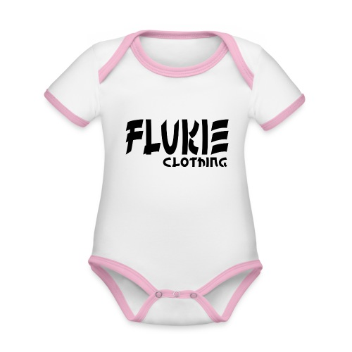 Flukie Clothing Japan Sharp Style - Organic Baby Contrasting Bodysuit