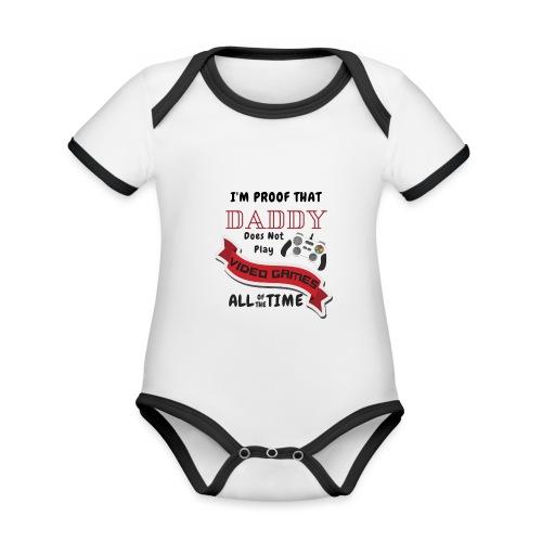 Gaming - Organic Baby Contrasting Bodysuit