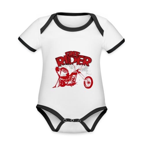 FREE RIDER - Body contraste para bebé de tejido orgánico
