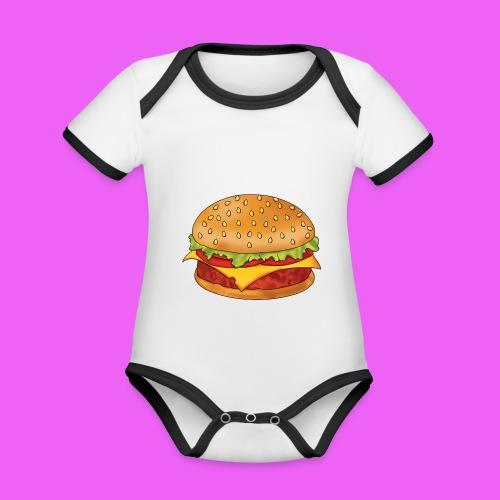 hamburguesa - Body contraste para bebé de tejido orgánico