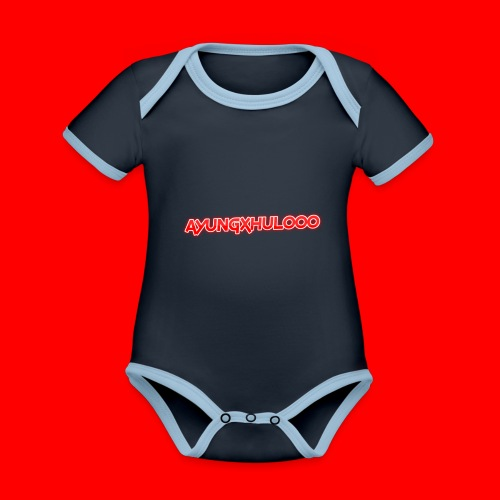 AYungXhulooo - Neon Redd - Organic Baby Contrasting Bodysuit
