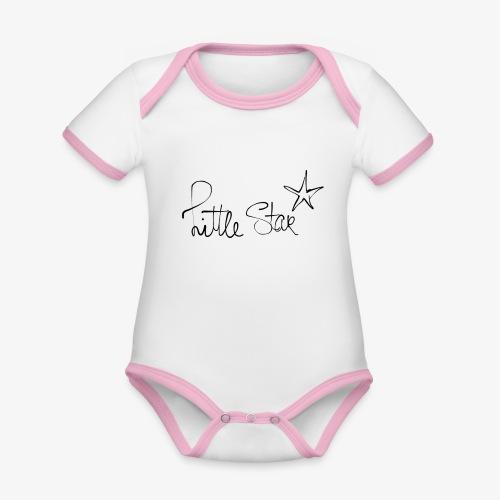 littlestar - Baby contrasterend bio-rompertje met korte mouwen