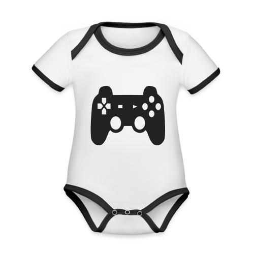 controller - Baby Bio-Kurzarm-Kontrastbody