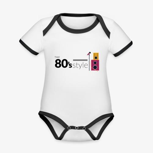80s - Body contraste para bebé de tejido orgánico