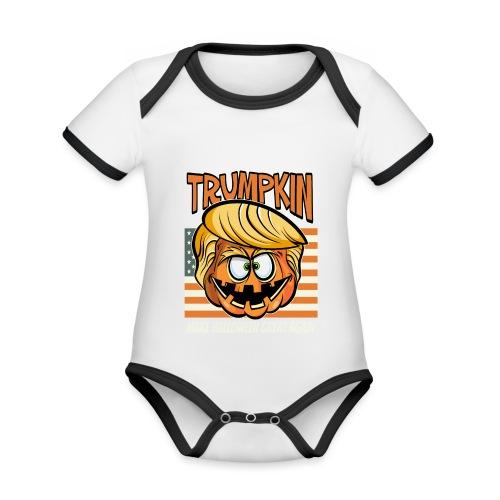 Trumpkin Donald Trump Halloween - Baby Bio-Kurzarm-Kontrastbody