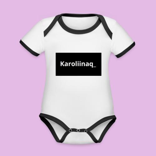 Karoliinaq_ - Vauvan kontrastivärinen, lyhythihainen luomu-body