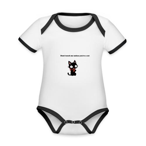 Imnotacat Tshirt - Ekologisk kontrastfärgad kortärmad babybody