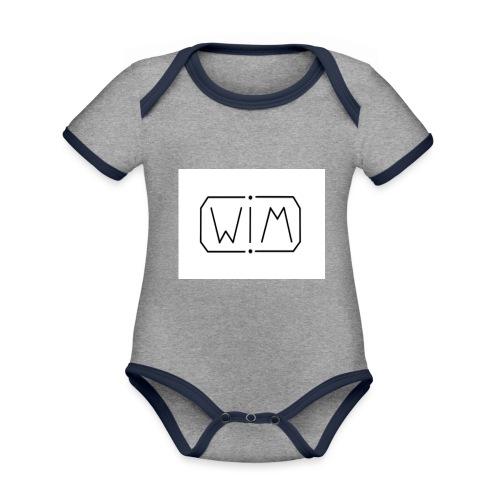 normal WIM design - Baby contrasterend bio-rompertje met korte mouwen