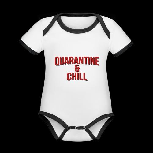 Quarantine & Chill Corona Virus COVID-19 - Baby Bio-Kurzarm-Kontrastbody