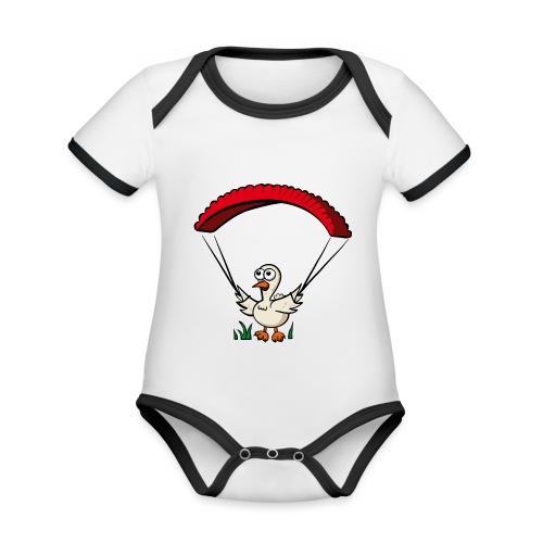 Groundhendl Groundhandling Hendl Paragliding - Baby Bio-Kurzarm-Kontrastbody