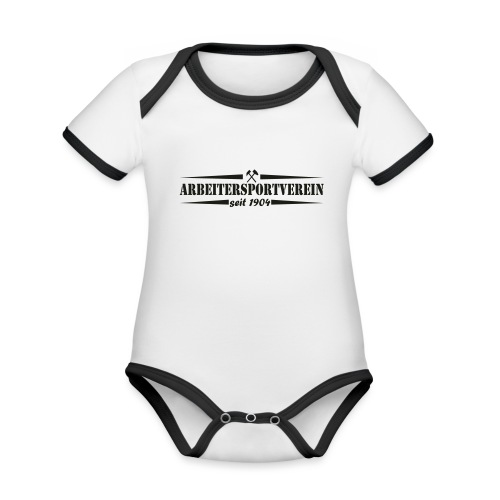 Arbeitersportverein seit 1904 - Baby Bio-Kurzarm-Kontrastbody