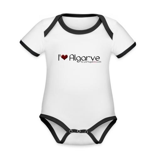 I Love Algarve - Body Bébé bio contrasté manches courtes