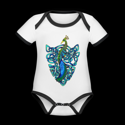 Peacock - Organic Baby Contrasting Bodysuit