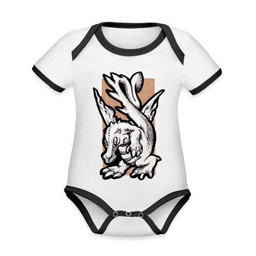 dragolino - Body da neonato a manica corta, ecologico e in contrasto cromatico