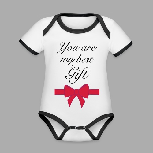 you are my best gift - Organic Baby Contrasting Bodysuit