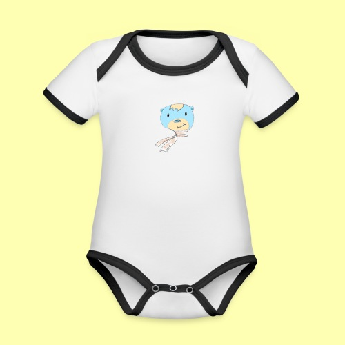 Pinni Bär® - Baby Bio-Kurzarm-Kontrastbody