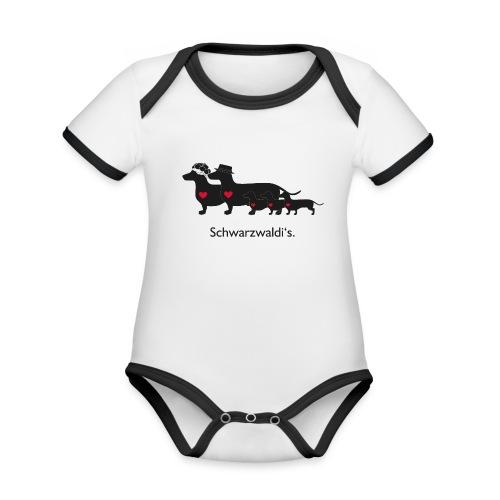 Familie Schwarzwaldi - Baby Bio-Kurzarm-Kontrastbody