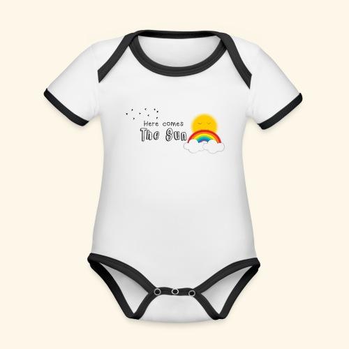 Here comes the sun - Body contraste para bebé de tejido orgánico