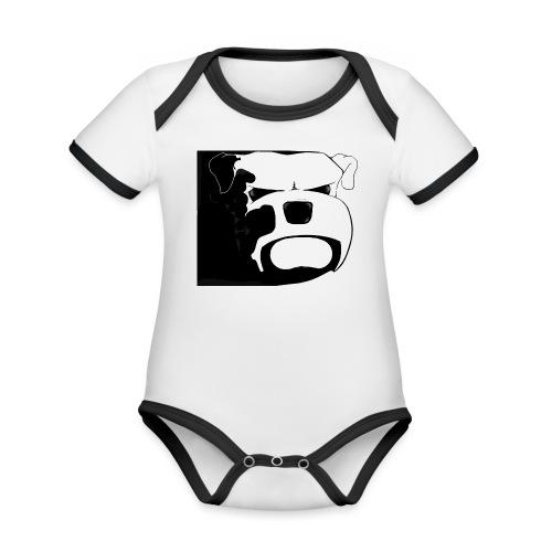 RÄYHÄ - Vauvan kontrastivärinen, lyhythihainen luomu-body