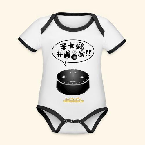 lustiges T-Shirt-Design Alexa flucht - Baby Bio-Kurzarm-Kontrastbody