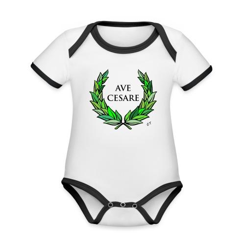 AVE CESARE - Body da neonato a manica corta, ecologico e in contrasto cromatico