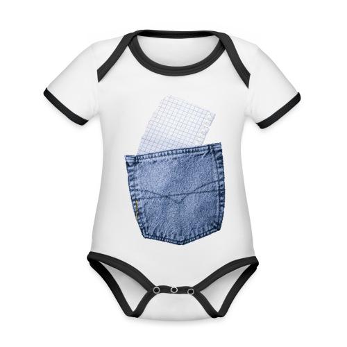 Jeans Baggy by #OneCreativeArts - Baby Bio-Kurzarm-Kontrastbody