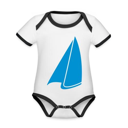 Segel Einfarbig - Baby Bio-Kurzarm-Kontrastbody