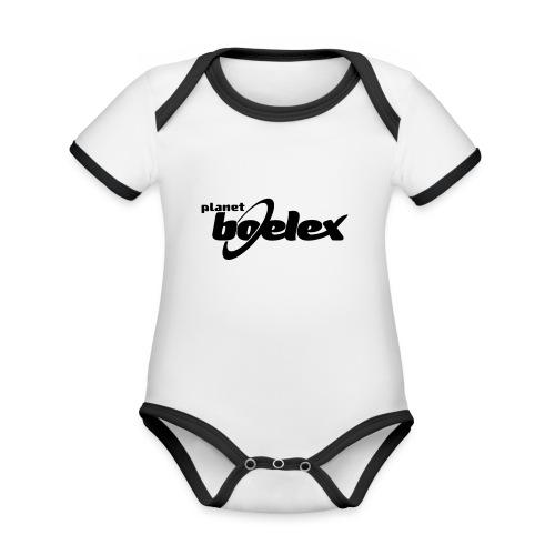 Planet Boelex logo black - Organic Baby Contrasting Bodysuit