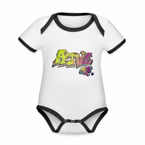 ALIVE TM Collab - Organic Baby Contrasting Bodysuit