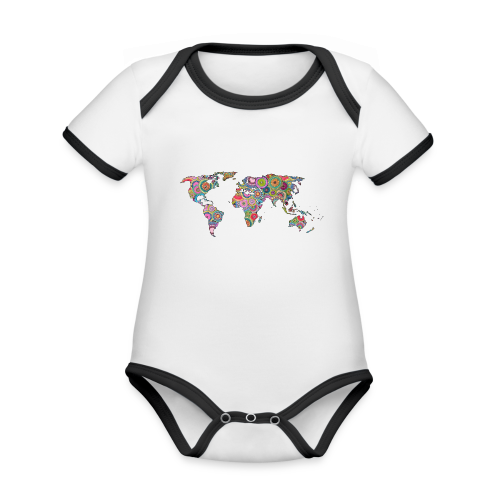 Hipsters' world - Organic Baby Contrasting Bodysuit