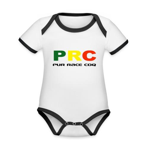 Pure Race Coq - PRC - Version 1 - Body Bébé bio contrasté manches courtes