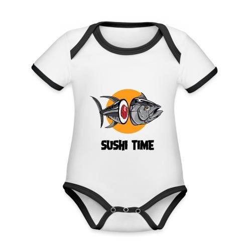 SUSHI TIME-tonno-n - Body da neonato a manica corta, ecologico e in contrasto cromatico